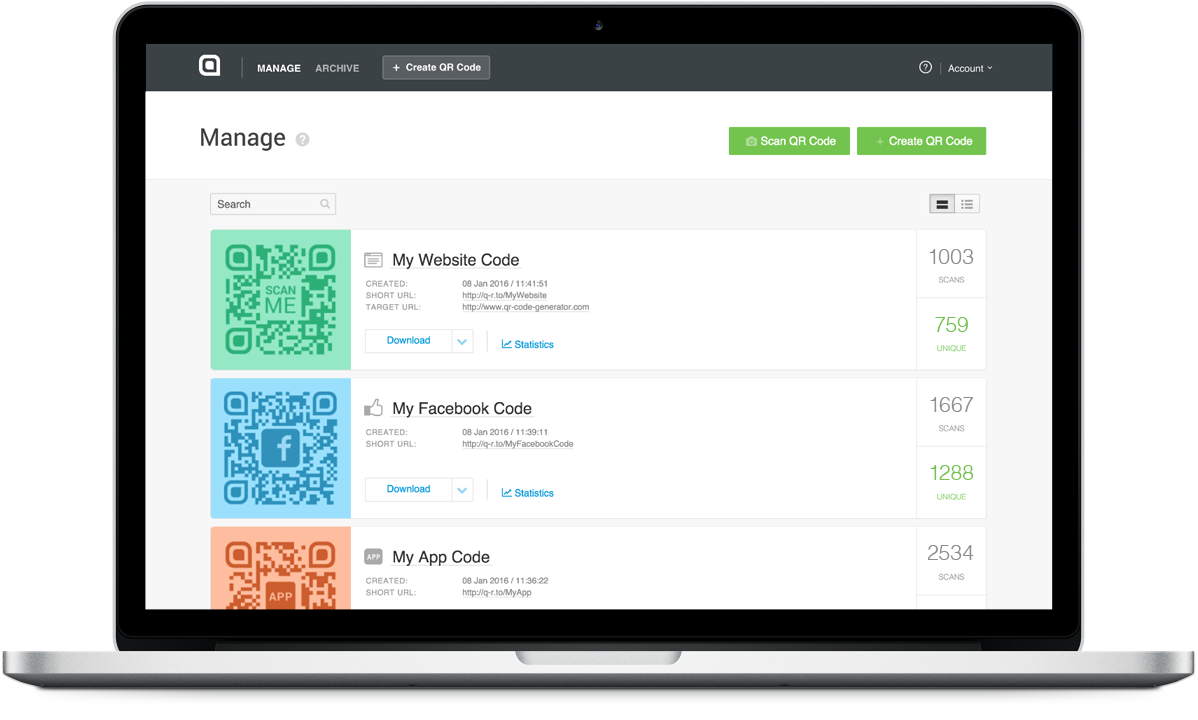 The all-in-one QR Code marketing platform